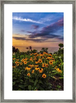 Susan's Sunset Framed Print by Mark Papke