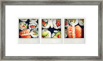 Sushi Framed Print by Les Cunliffe