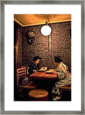 Sushi Or Noodles Framed Print by Joe Carini