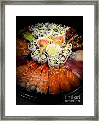 Sushi Tray Framed Print by Elena Elisseeva