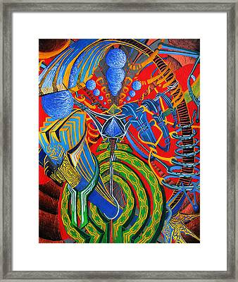 Suspended Enigma Framed Print by Maxwell Hanson