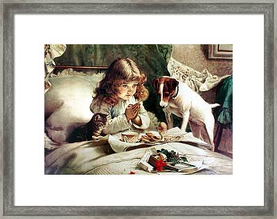 Suspense Framed Print by Charles Burton Barber