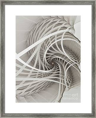 Suspension Bridge-fractal Art Framed Print by Karin Kuhlmann