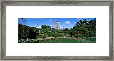 Suspension Bridge, Golden Gate Bridge Framed Print by Panoramic Images