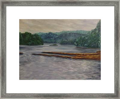 Susquehanna River At Saginaw Pa Framed Print by Joann Renner