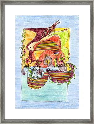 Sustainable Fish Pond Framed Print by Mukta Gupta