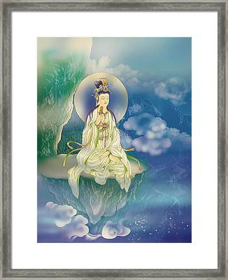 Sutra-holding Kuan Yin Framed Print by Lanjee Chee