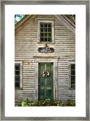 Sutton N H  Meeting House Framed Print by Tricia Marchlik