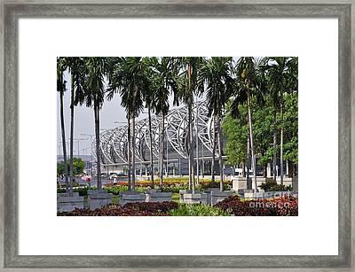 Suvarnabhumi International Airport In Bangkok Framed Print by Sami Sarkis