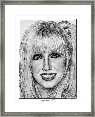 Suzanne Somers In 1977 Framed Print by J McCombie