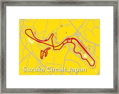 Suzuka Circuit Japan Framed Print by Big City Artwork