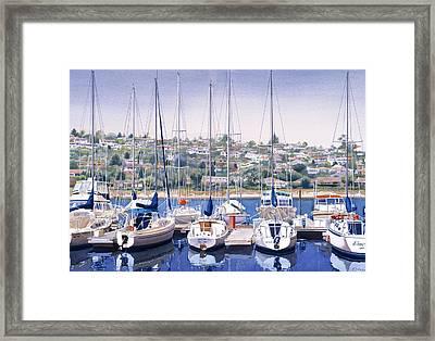 Sw Yacht Club In San Diego Framed Print by Mary Helmreich