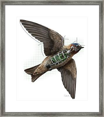 Swallow Drone Robotics Framed Print by Nicolle R. Fuller