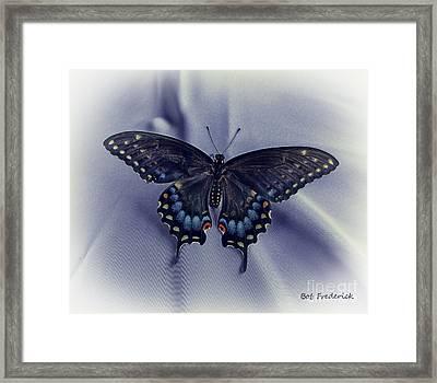 Swallowtail Crashes Bar-b-q Framed Print by Robert Frederick
