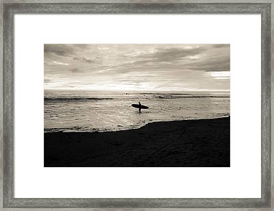 Swamis Surf Framed Print by Simon Paez