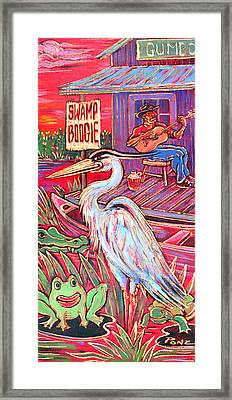 Swamp Boogie Framed Print by Robert Ponzio