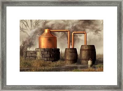 Swamp Moonshine Still Framed Print by Daniel Eskridge