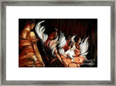 Swan Lake Framed Print by Carrie Joy Byrnes
