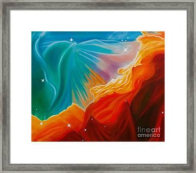 Swan Nebula Framed Print by Barbara McMahon