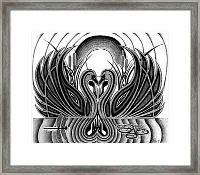 Swan Song  Framed Print by Barb Cote