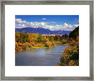 Swan Valley Autumn Framed Print by Leland D Howard