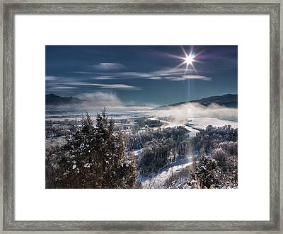 Swan Valley Winter Framed Print by Leland D Howard