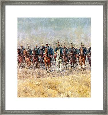 Swansong Of The Hussars Framed Print by Ludwig Koch