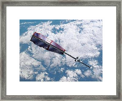 Swarm Satellite Framed Print by P.carril/esa