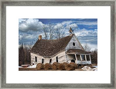 Sway Back School House Framed Print by Paul Freidlund
