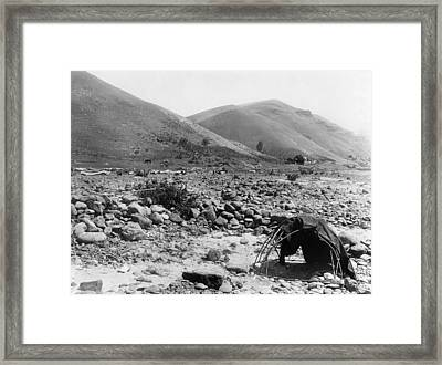 Sweat Lodge, C1910 Framed Print by Granger