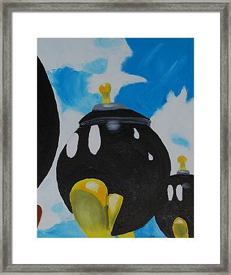 Sweating Bomb Framed Print by Yueping Song