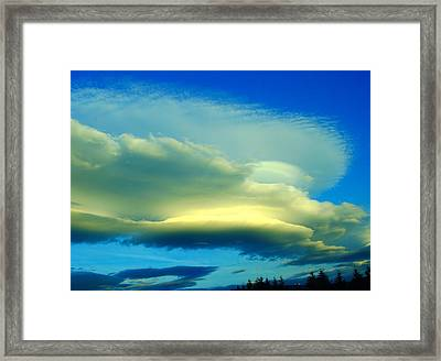 Sweeping Across The Sky Framed Print by Jeff Swan