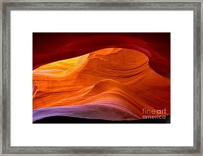 Sweeping Swirls Framed Print by Inge Johnsson
