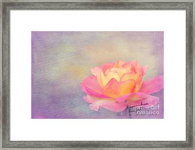 Sweet Are The Memories Framed Print by Beve Brown-Clark Photography