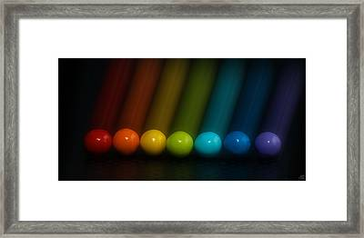 Sweet Candy Rainbow Framed Print by Lisa Knechtel