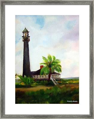 Sweet Charlie Lighthouse Framed Print by Betty Pimm