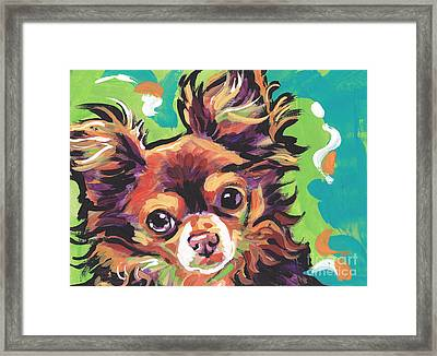 Sweet Choco Chi  Framed Print by Lea S