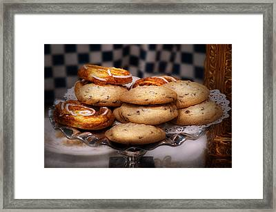 Sweet - Cookies - Cookies And Danish Framed Print by Mike Savad