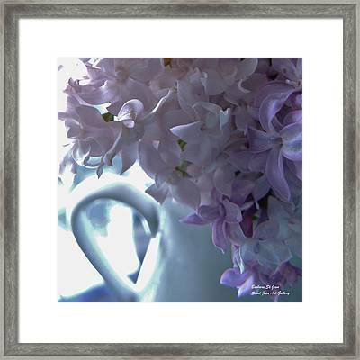 Sweet Cream Lilac Framed Print by Barbara St Jean