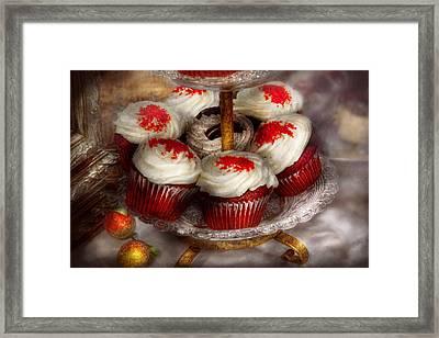 Sweet - Cupcake - Red Velvet Cupcakes  Framed Print by Mike Savad
