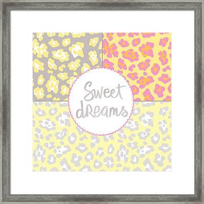 Sweet Dreams - Animal Print Framed Print by Linda Woods