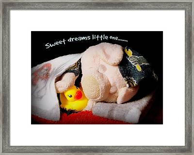 Sweet Dreams Little One Framed Print by Piggy