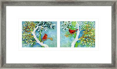 Sweet Memories Diptych Framed Print by Hailey E Herrera