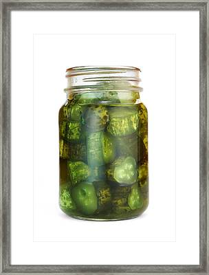 Sweet Pickles Framed Print by Jim Hughes