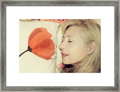 Sweet Poppy Dreams Framed Print by Laurie Search