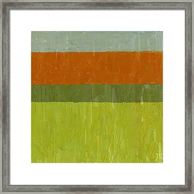 Sweet Potato And Pea Green Framed Print by Michelle Calkins