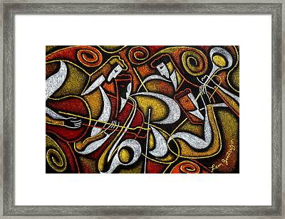 Sweet Sounds Of Jazz Framed Print by Leon Zernitsky
