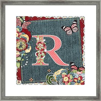Sweet Surprises Monogram Letter  R Framed Print by Debra  Miller