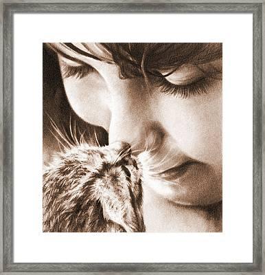 Sweet Touch Framed Print by Natasha Denger