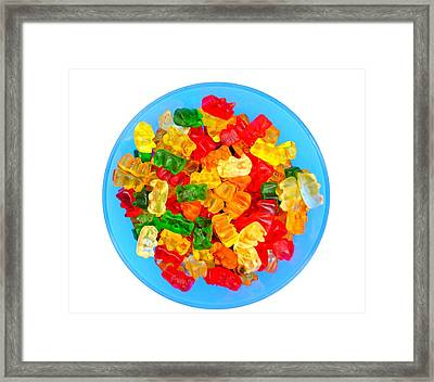 Sweet Treat Gummy Bears Framed Print by Andrea Rea